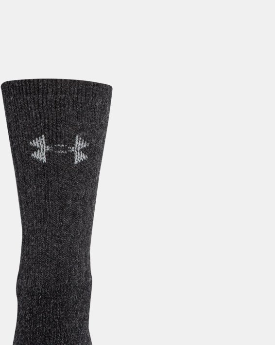UA Charged Wool Boot Socks - 2-Pack, Black, pdpMainDesktop image number 2