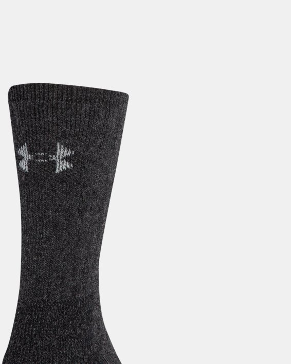 UA Charged Wool Boot Socks - 2-Pack, Black, pdpMainDesktop image number 3