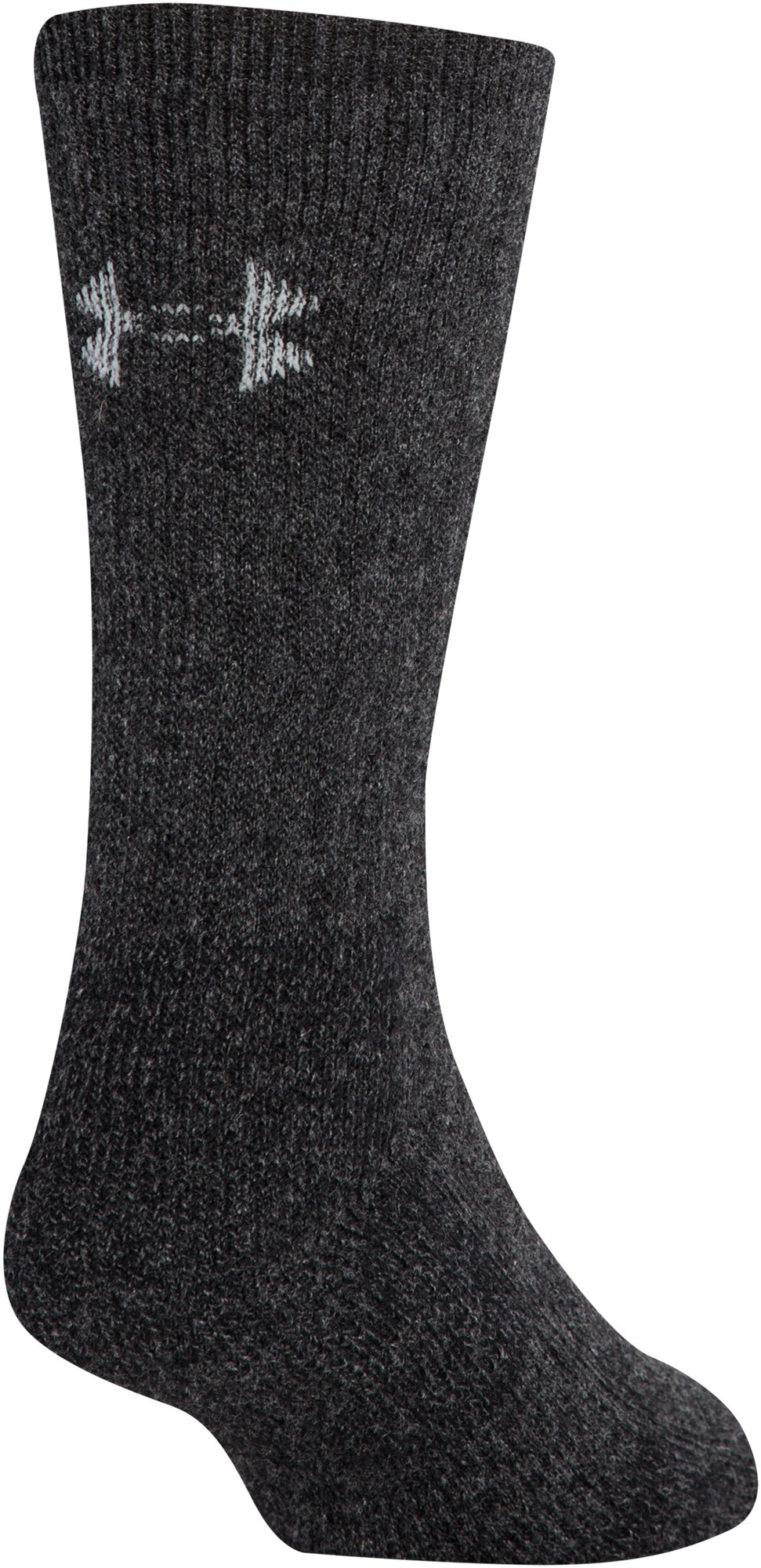 Men's UA Charged Wool Boot Socks – 2-Pack, Black , undefined