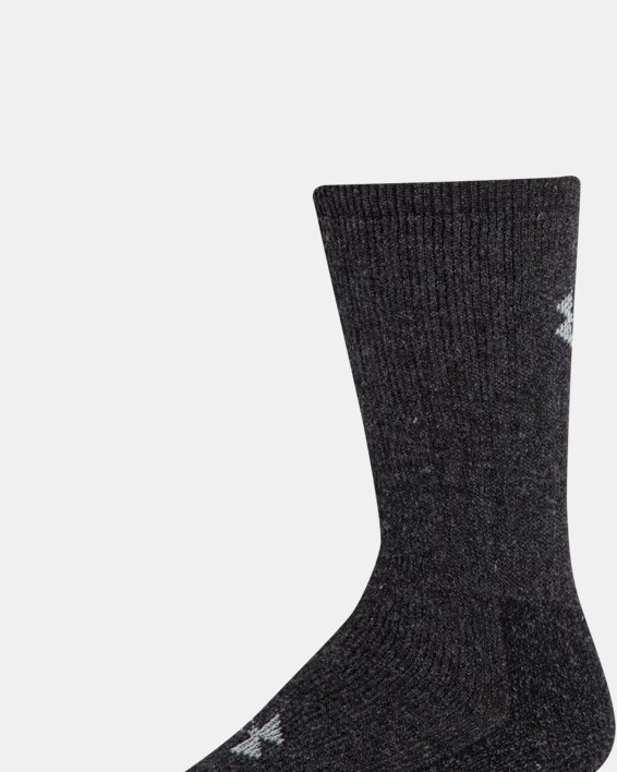 UA Charged Wool Boot Socks - 2-Pack, Black, pdpMainDesktop image number 4