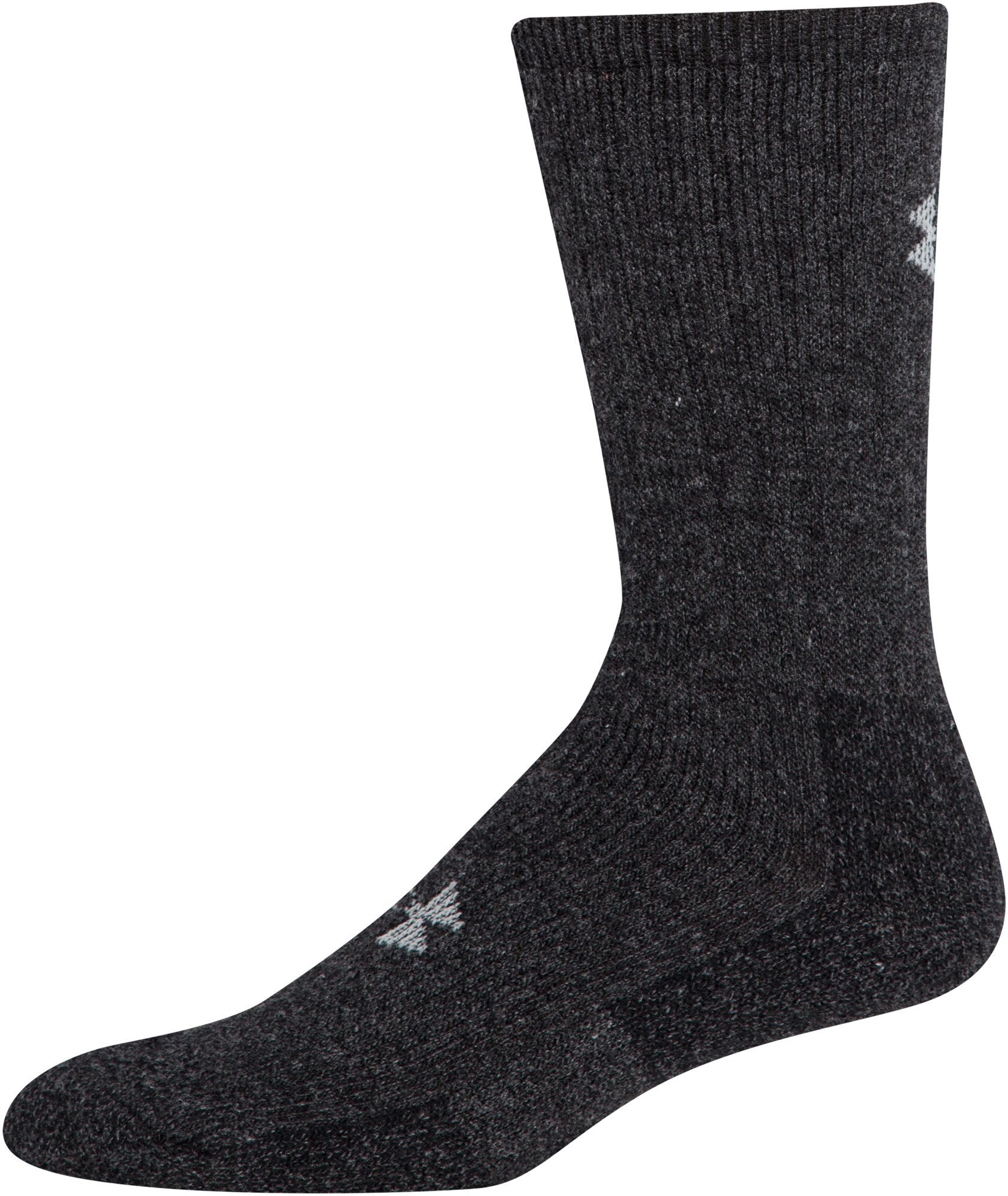 Men's UA Charged Wool Boot Socks – 2-Pack, Black ,