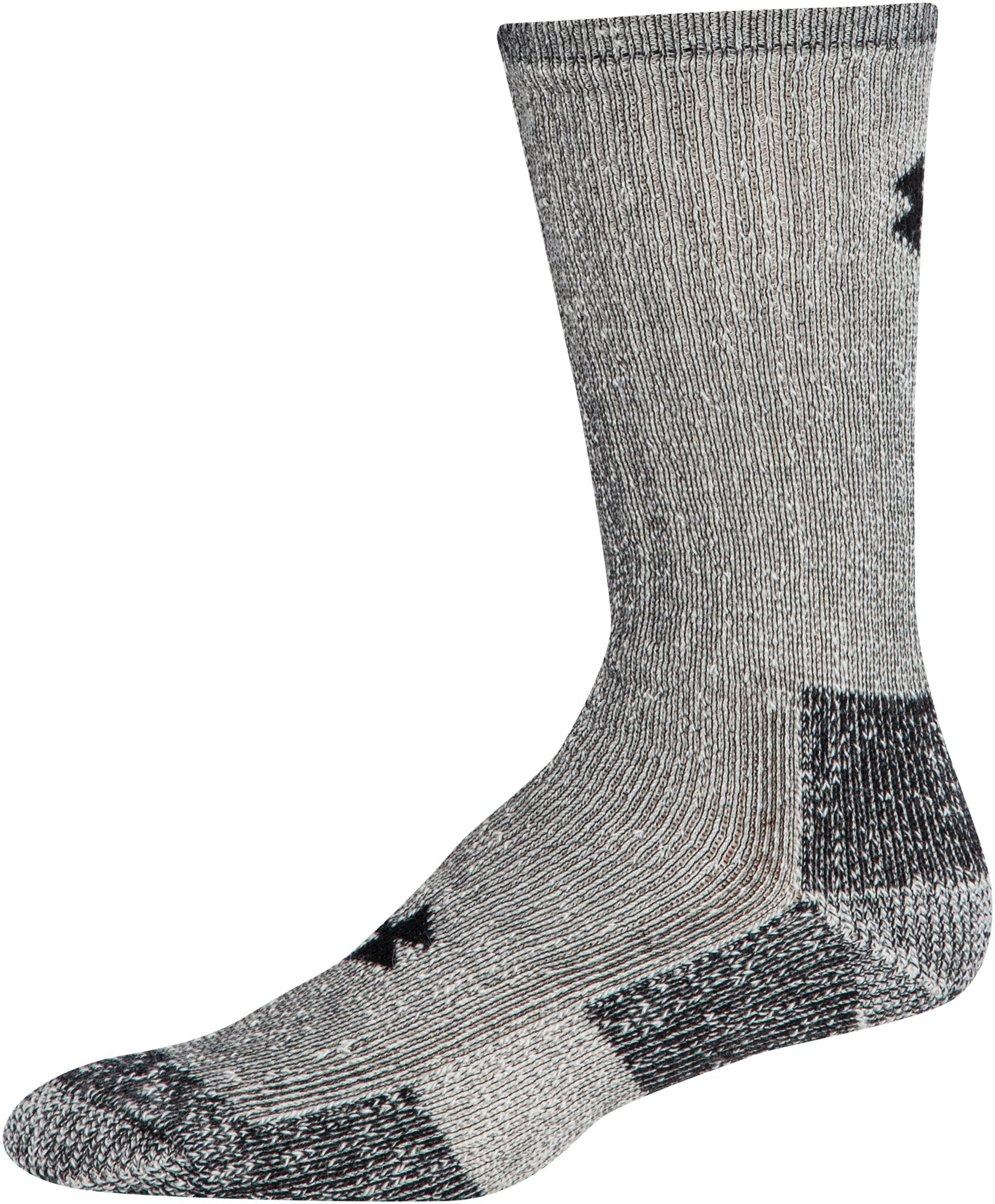 UA Charged Wool Boot Socks – 2-Pack, Gray,