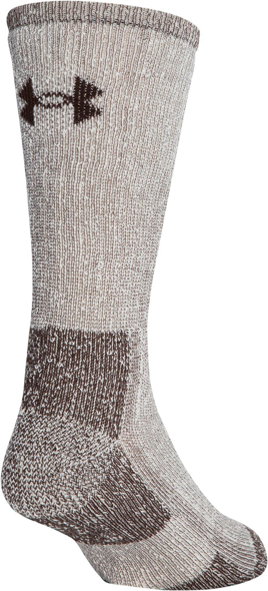 UA Charged Wool Boot Socks – 2-Pack, Cleveland Brown, undefined
