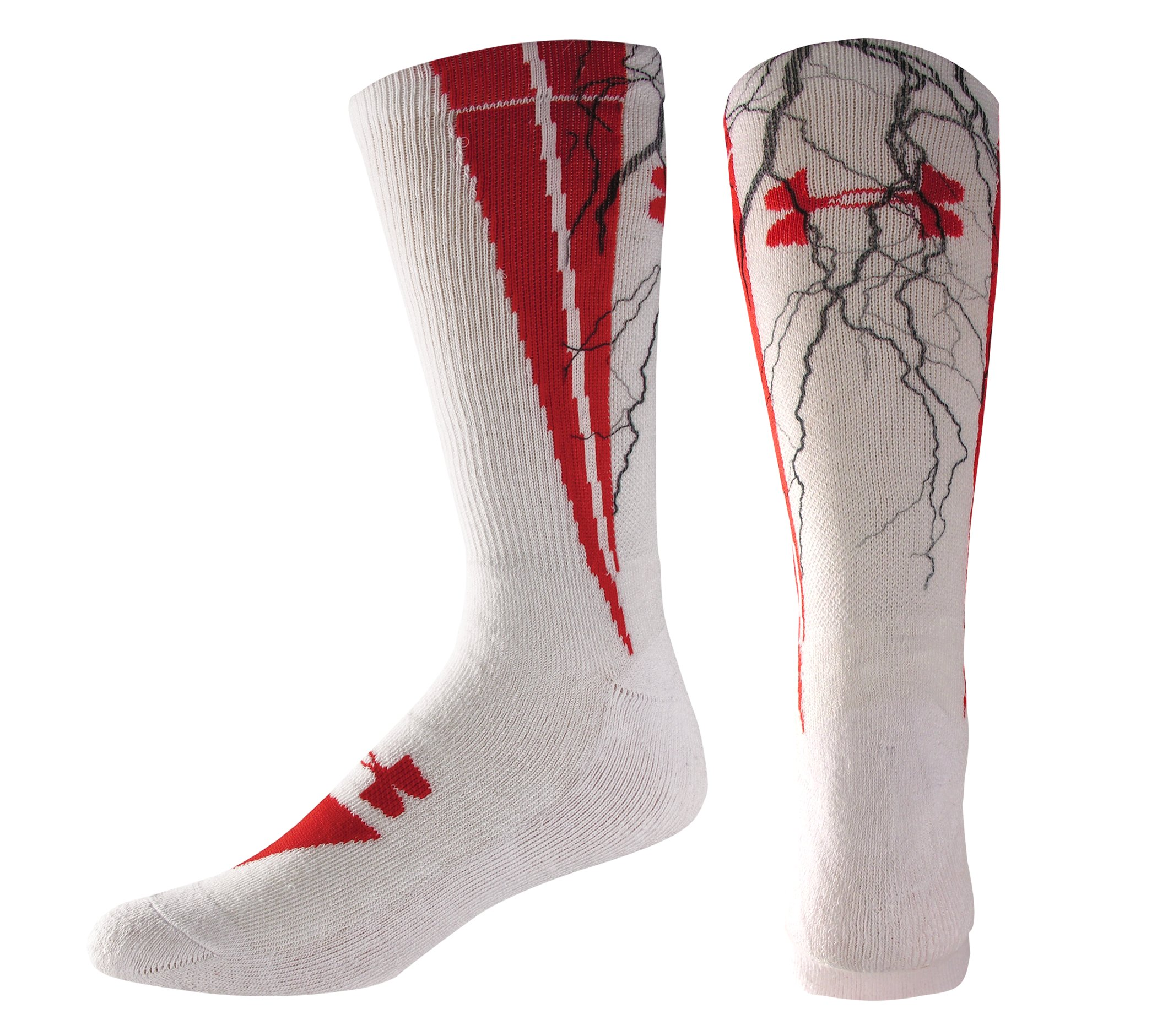 Kids' UA Ignite Sublimated Crew Socks, White