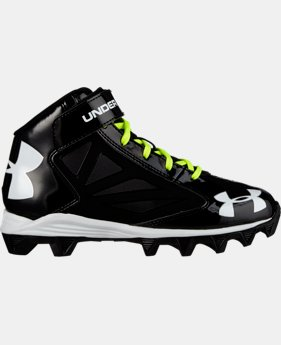 Boys' UA Crusher Mid Football Cleats