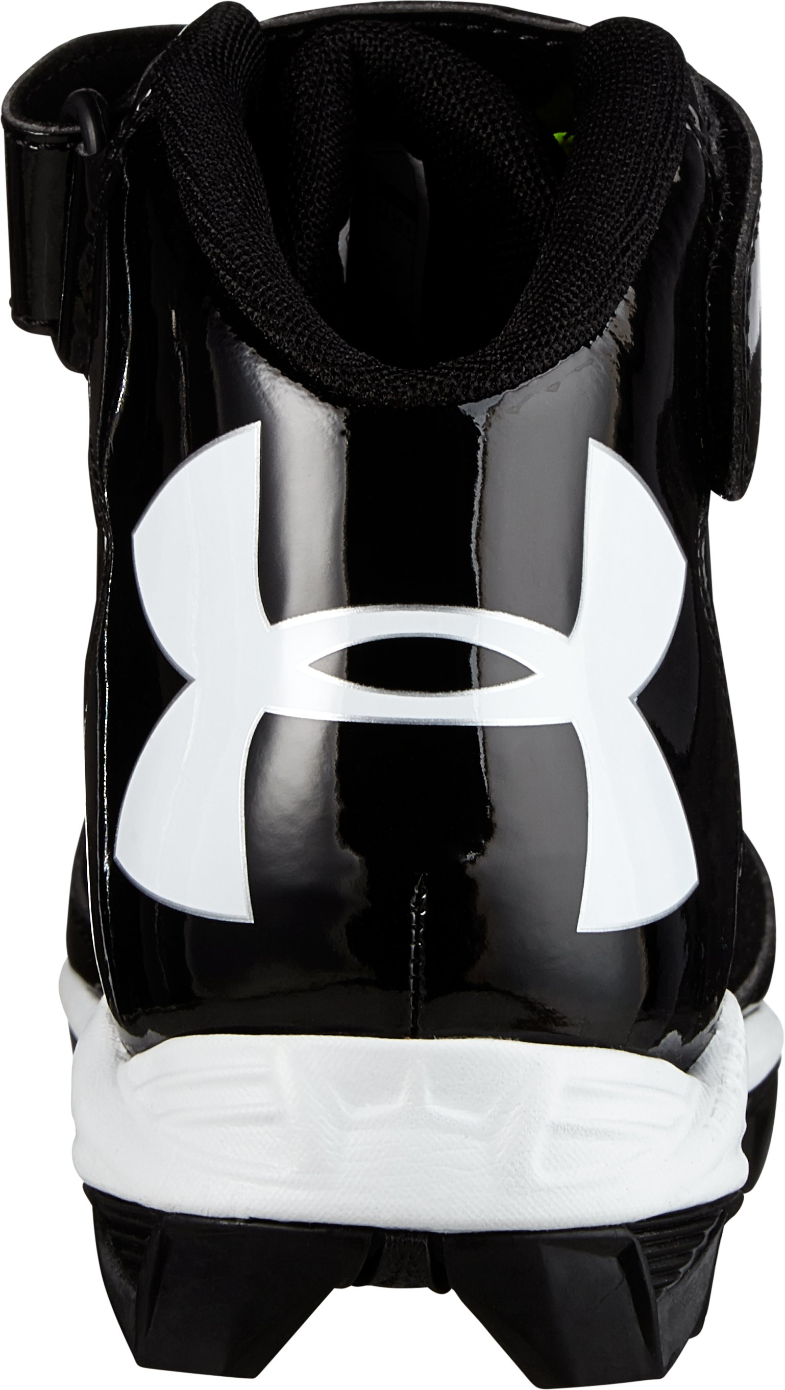 Boys' UA Crusher Mid Football Cleats, Black ,
