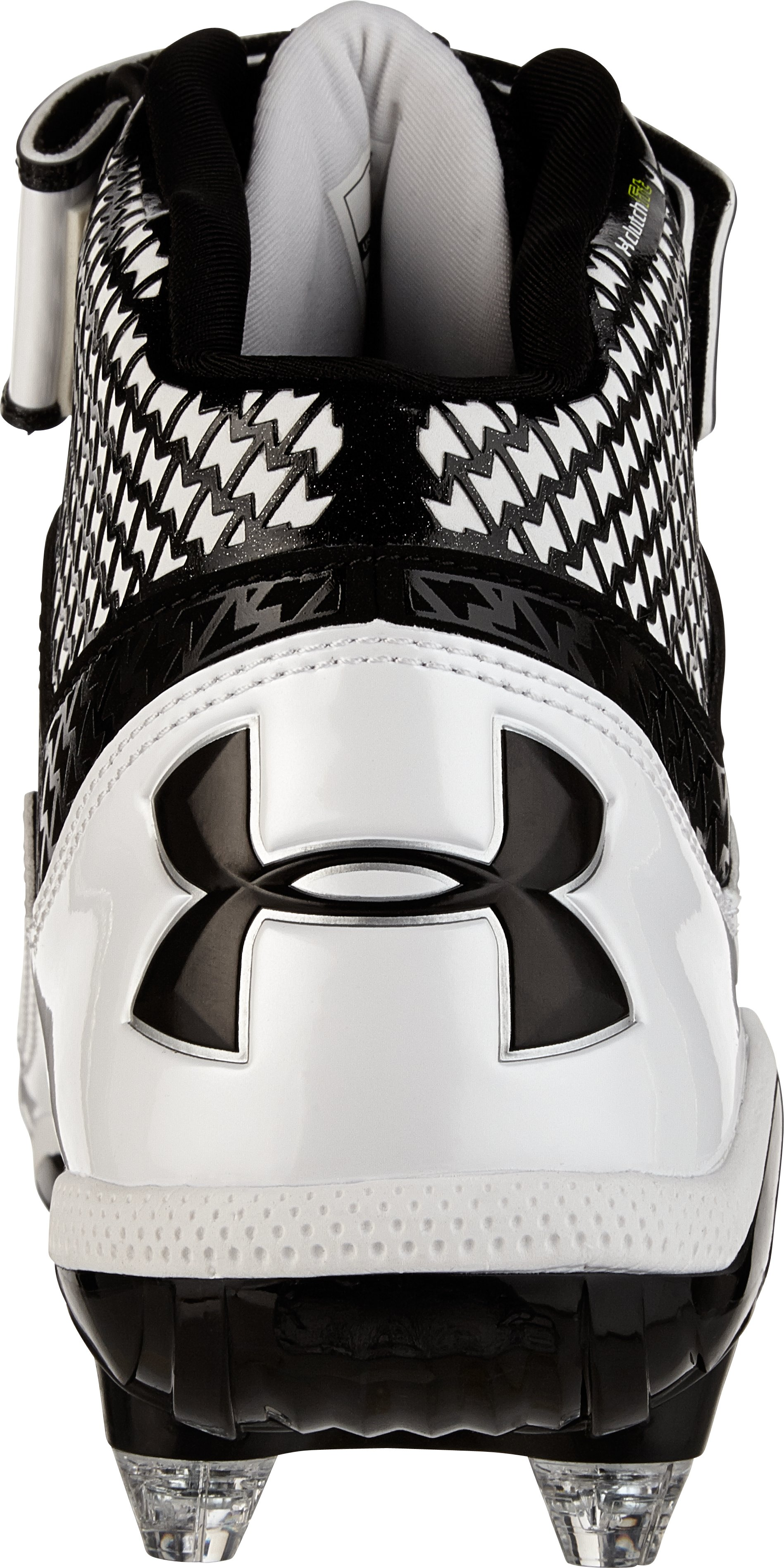 Men's UA Fierce Mid D Football Cleats, Black ,