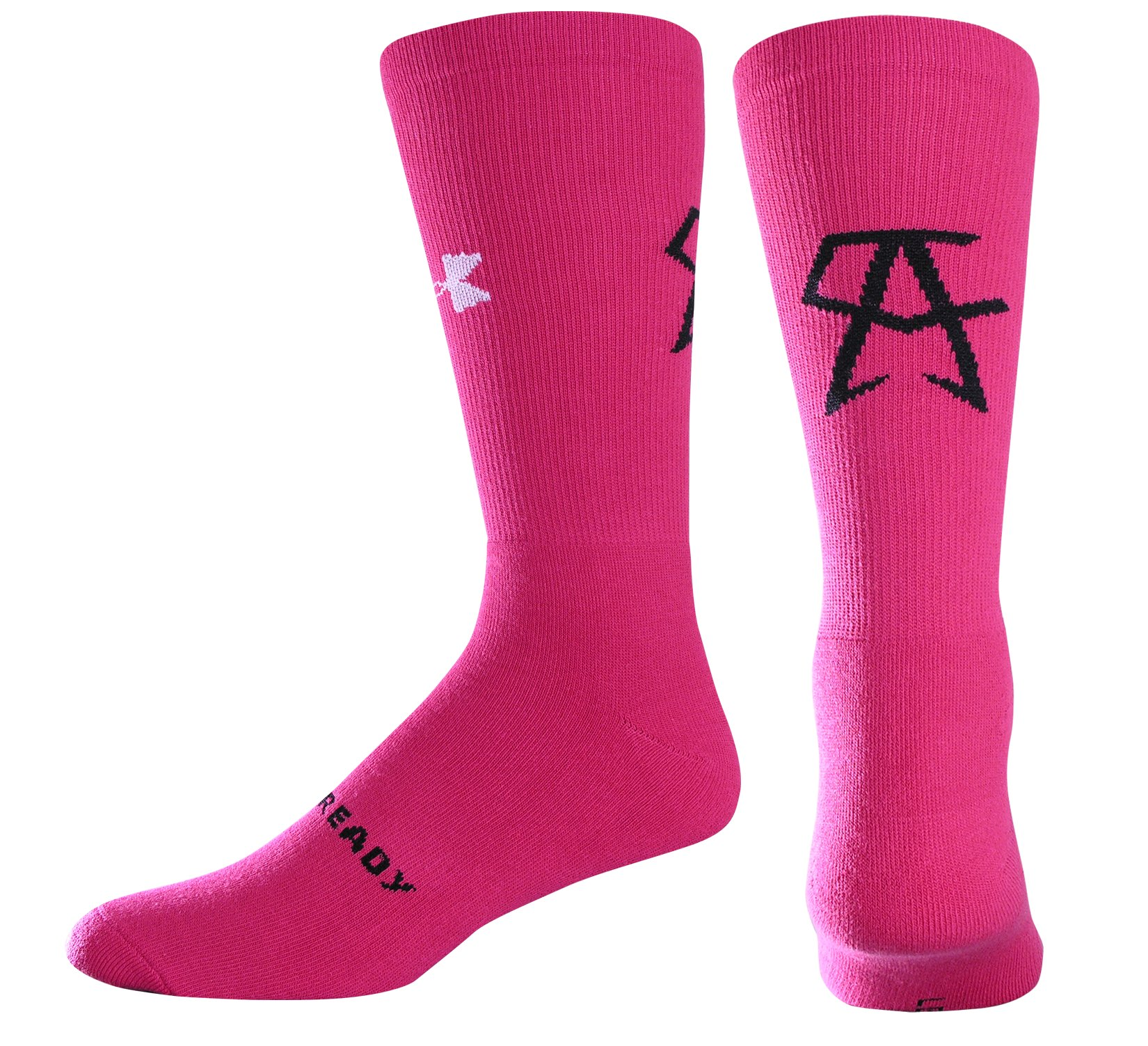Men's UA Canelo Crew Socks, Pink, zoomed image