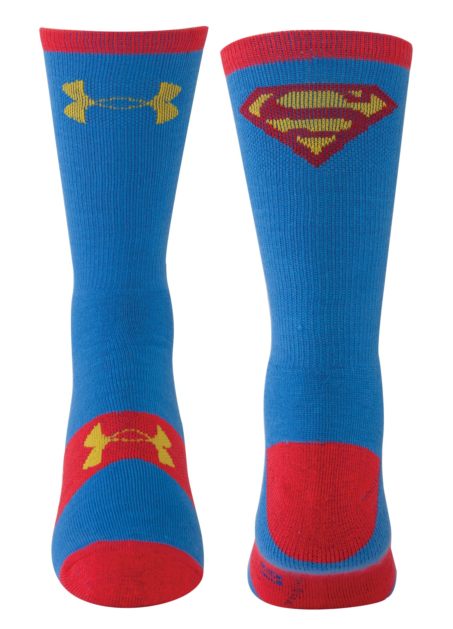 Men's Under Armour® Alter Ego Superman Crew Socks, Blue, zoomed image
