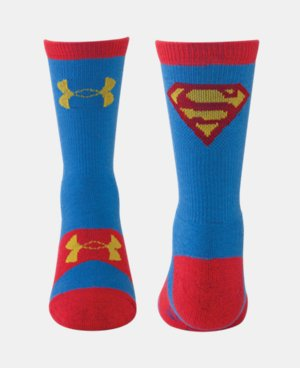 Kids' Under Armour® Alter Ego Superman Crew Socks LIMITED TIME: FREE U.S. SHIPPING 1 Color $13.99