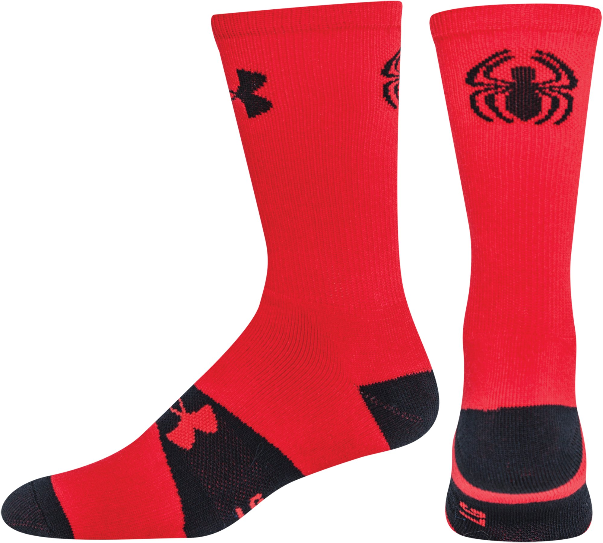 Kids' Under Armour® Alter Ego Spider-Man Crew Socks, Red, zoomed image