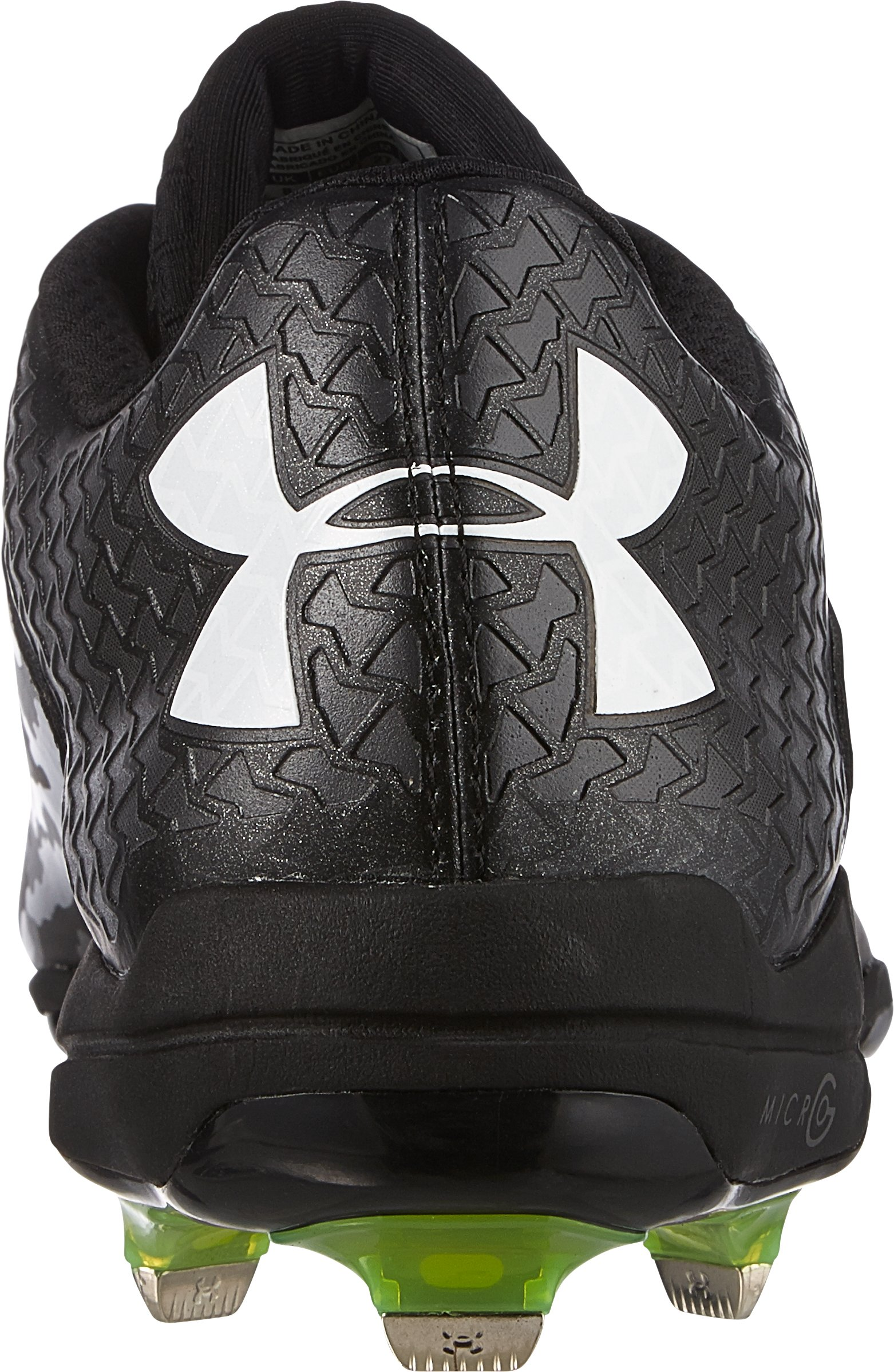 Men's UA Deception Low DiamondTips Baseball Cleats, Black , undefined