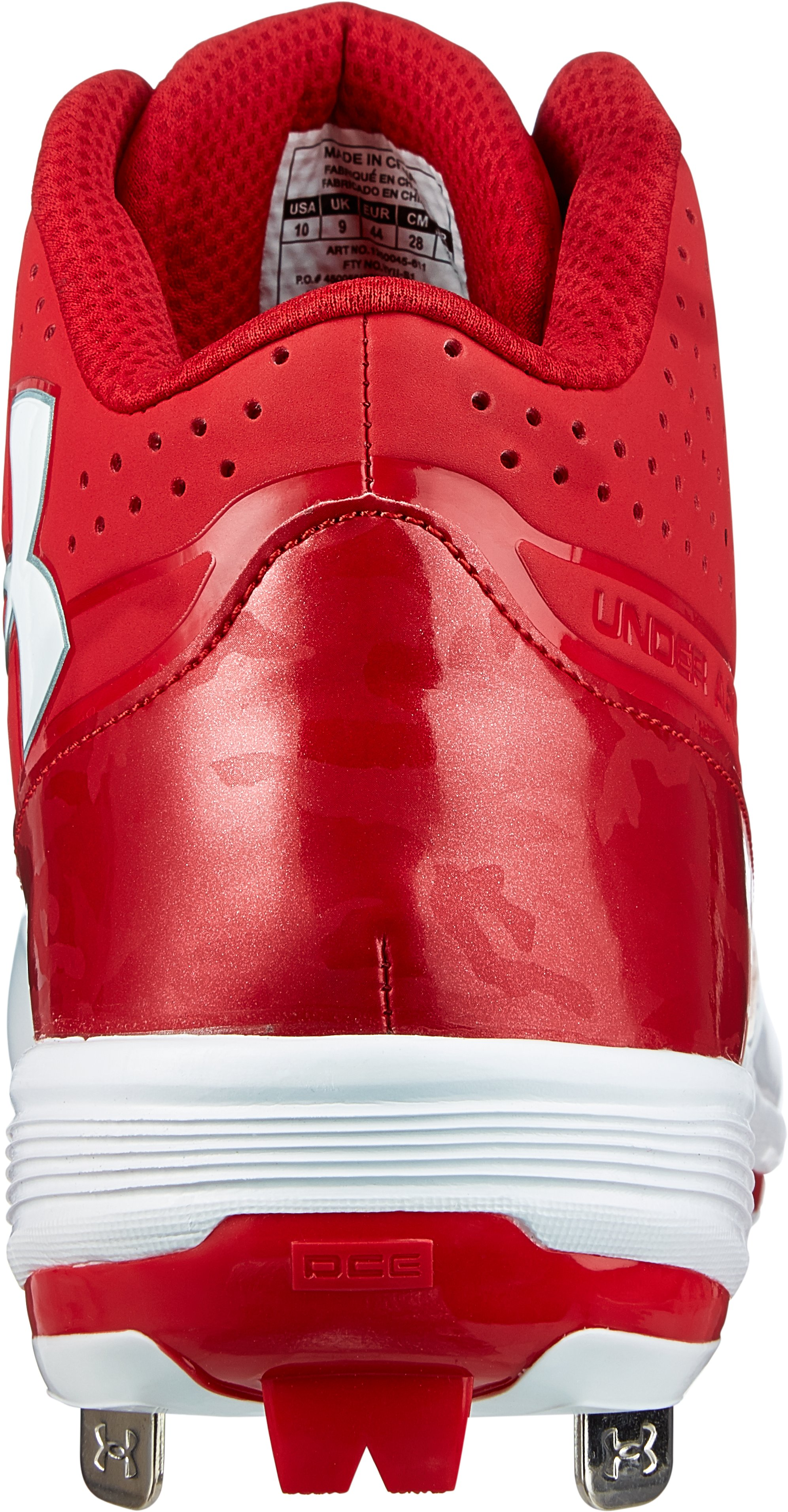 Men's UA Ignite Mid ST CC Baseball Cleats, Red, undefined