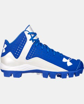 Boys' UA Leadoff Mid RM Baseball Cleats  1 Color $20.24