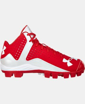 Boys' UA Leadoff Mid RM Baseball Cleats