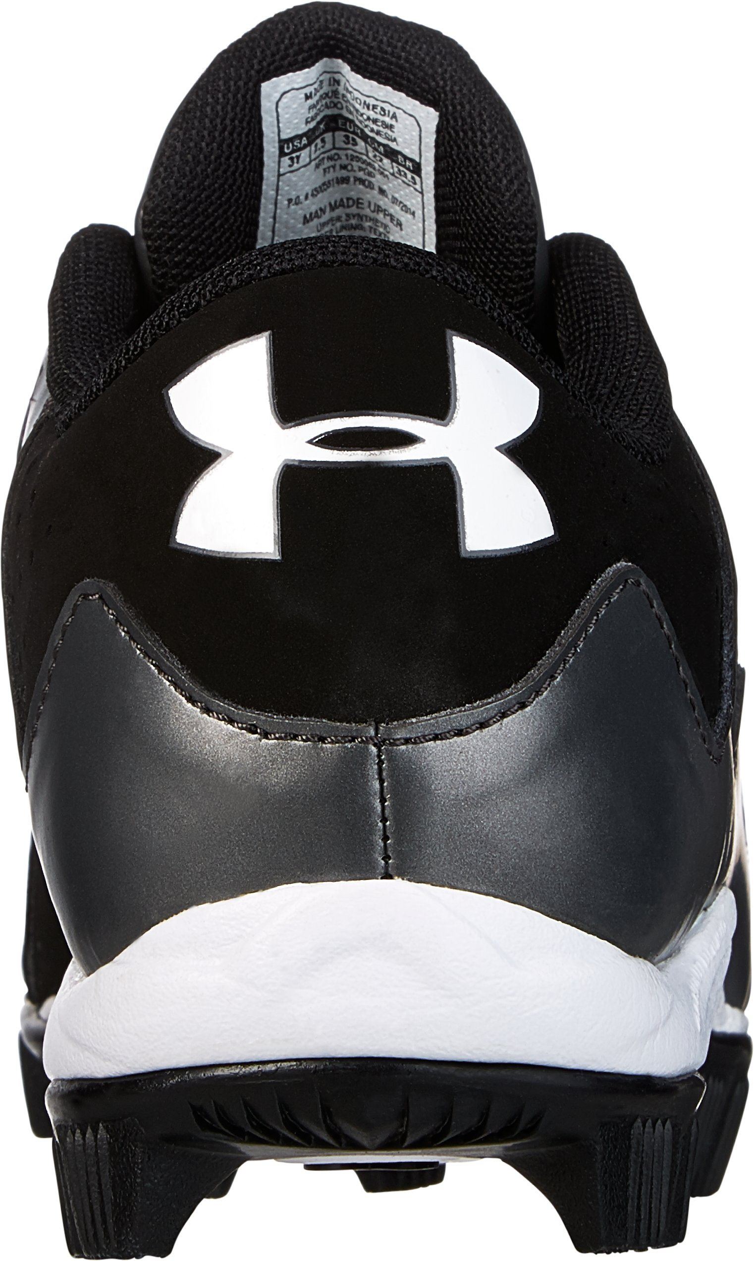 Boys' UA Leadoff Low RM Baseball Cleats, Black