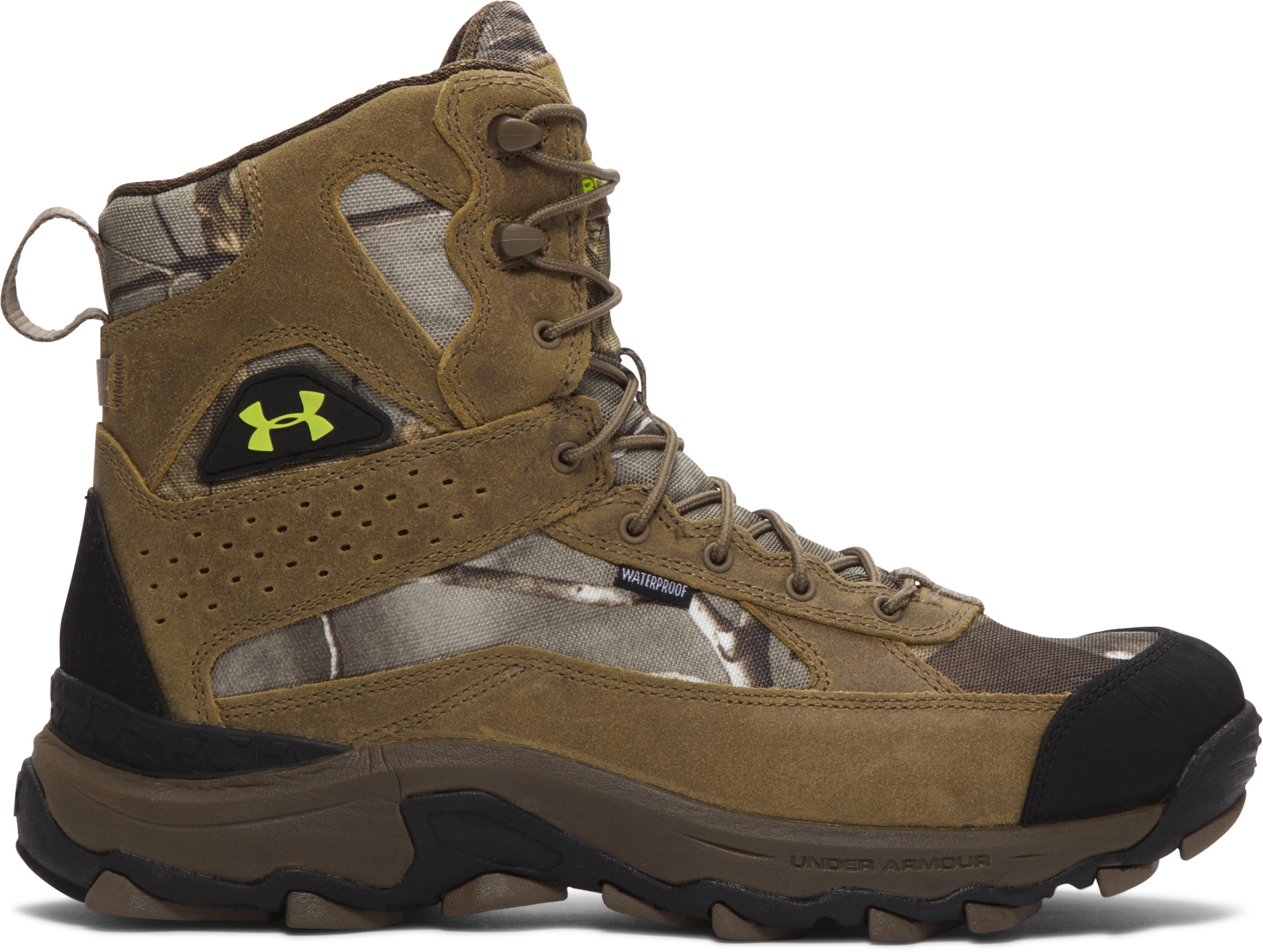 Men's UA Speed Freek Bozeman Hunting Boots, REALTREE AP-XTRA, zoomed image