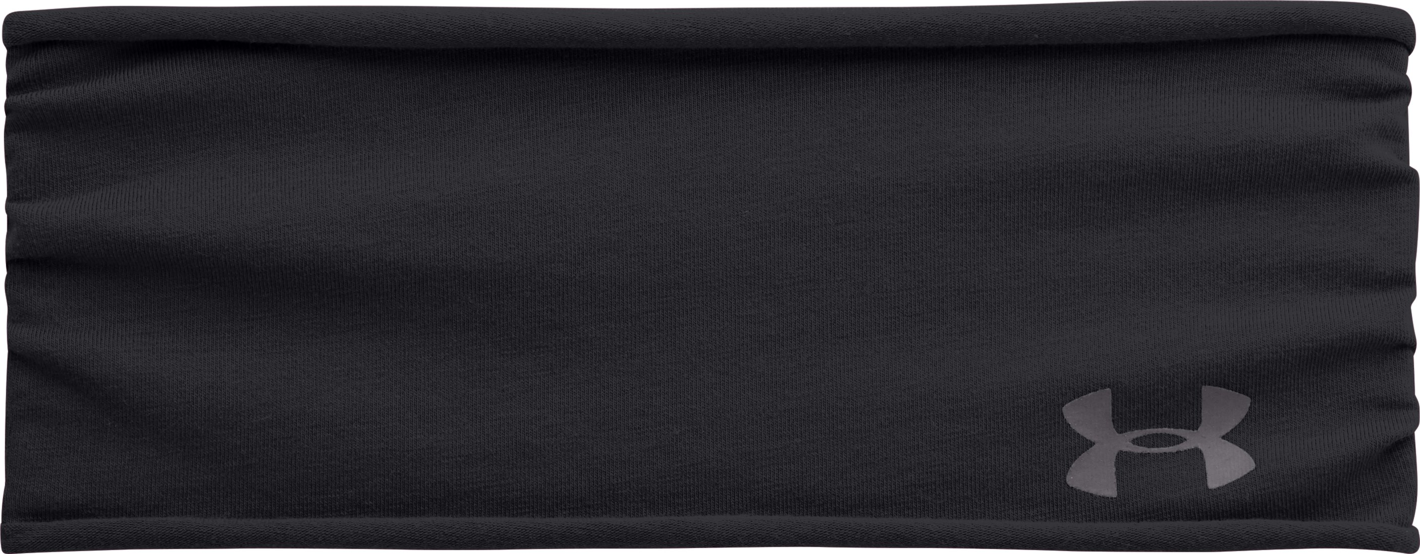 Women's UA T-Shirt Wide Headband, Black , zoomed image