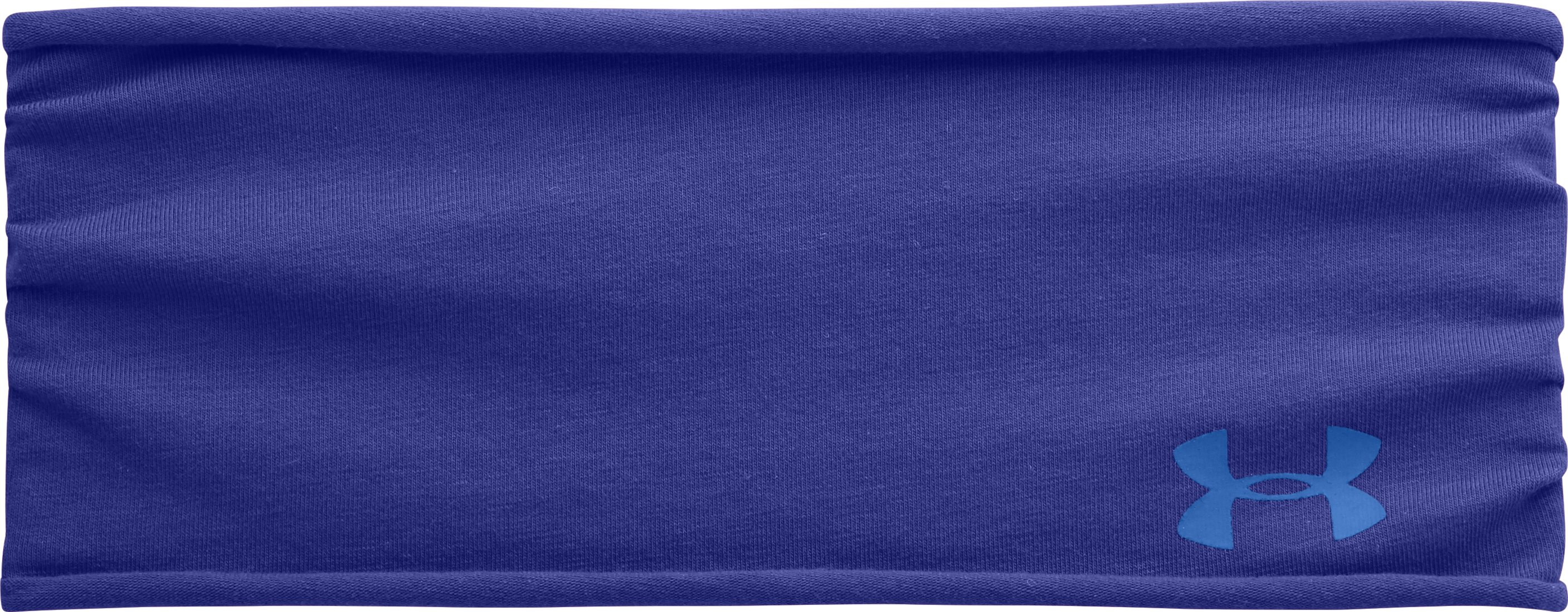 Women's UA T-Shirt Wide Headband, SIBERIAN IRIS, zoomed image