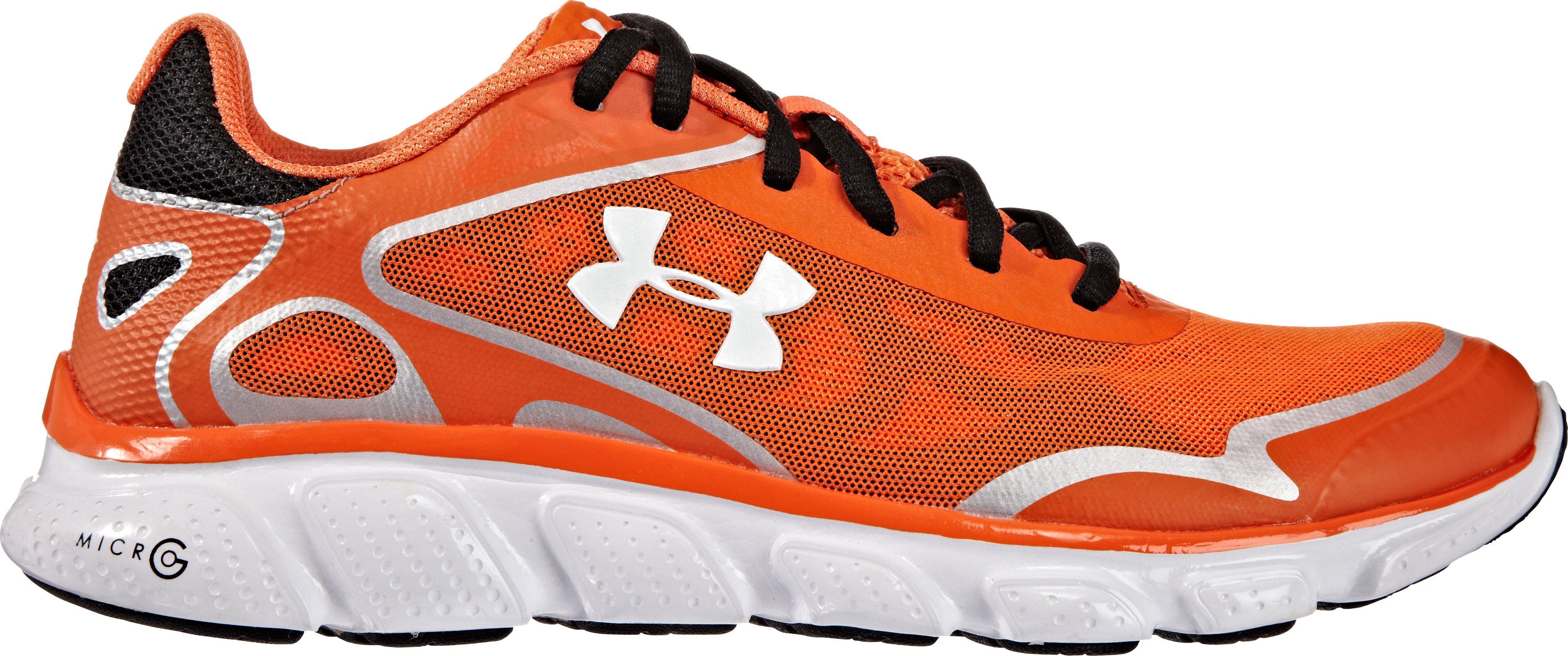 Women's UA Micro G® Pulse Running Shoes — Charm City Edition, Orange , zoomed image