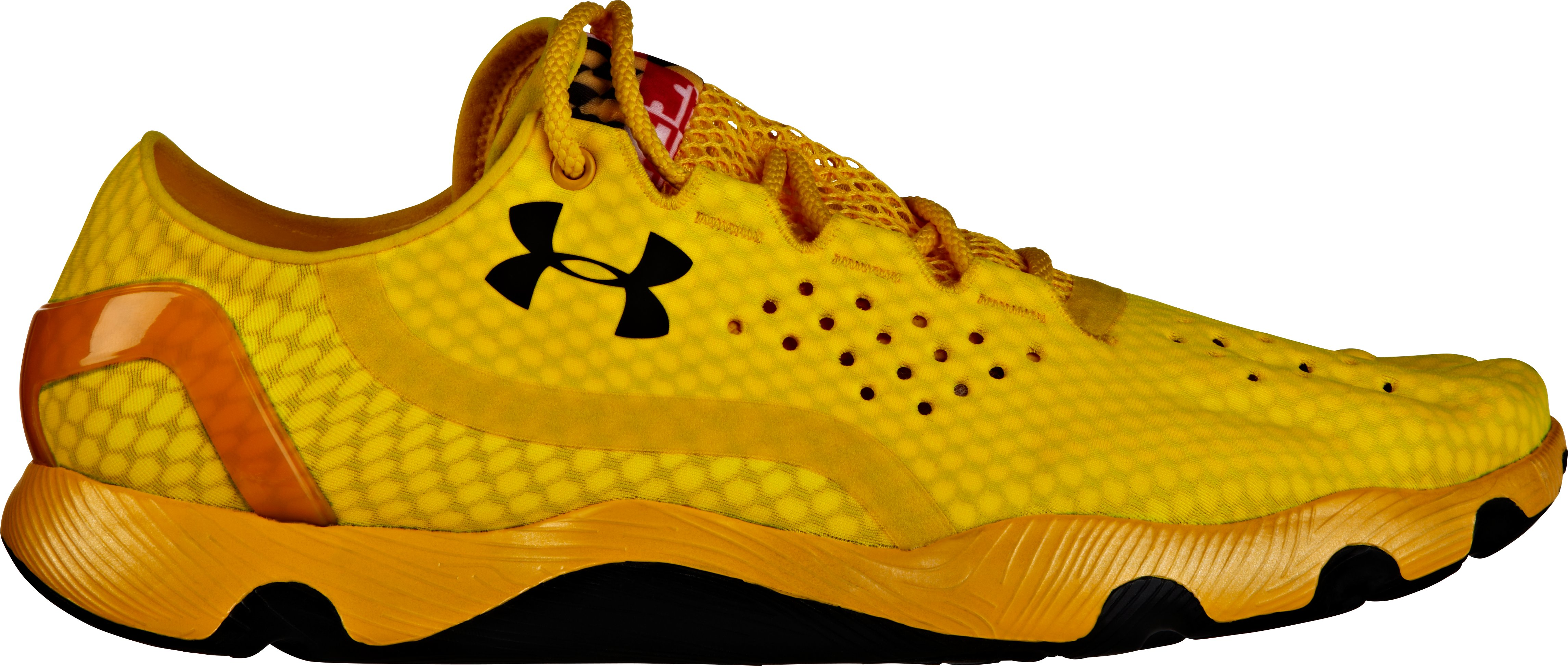UA SpeedForm Running Shoes — Maryland Pride Edition, Taxi