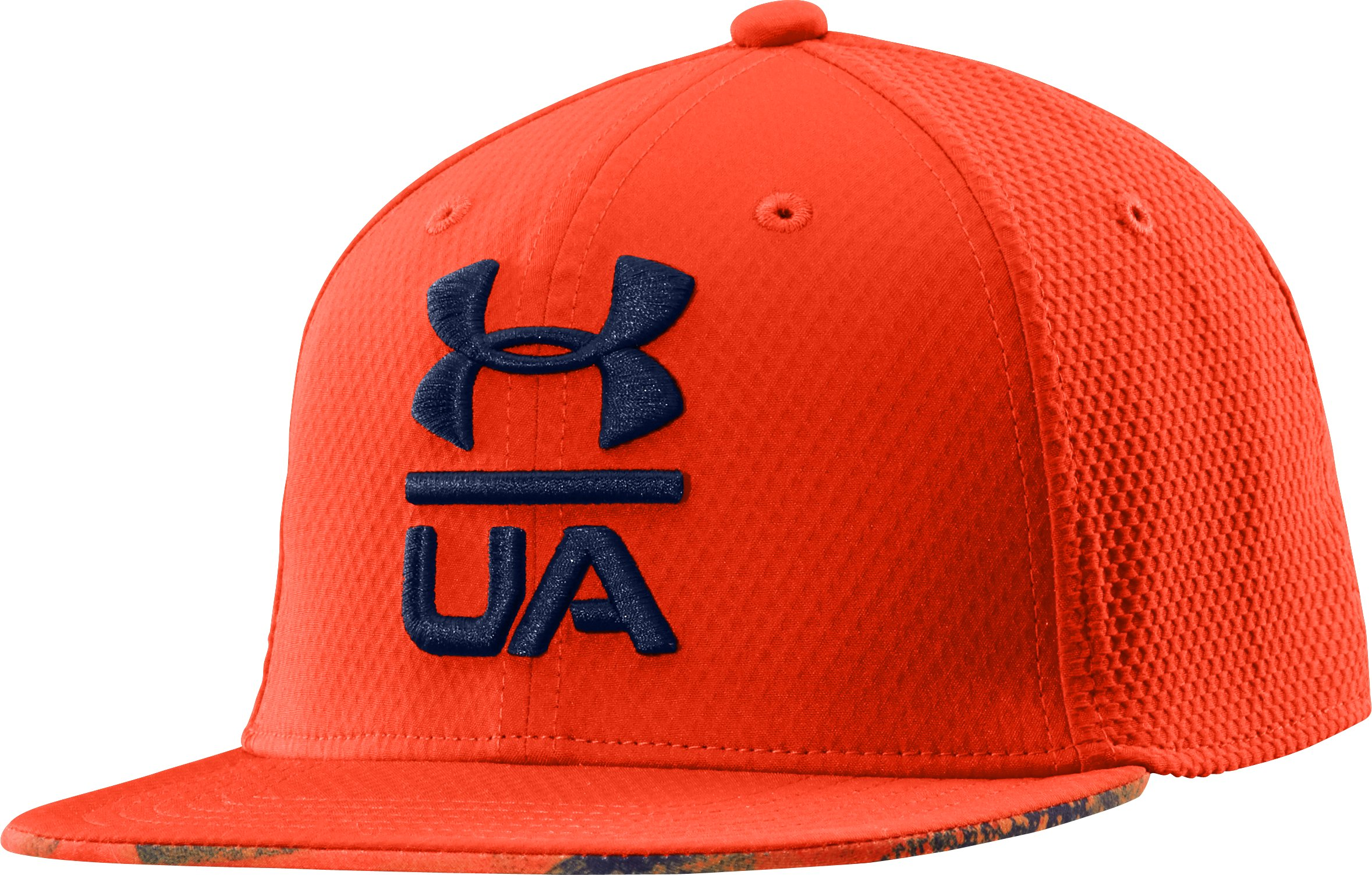 Boys' UA Eyes Up Flat Brim Stretch Fit Cap, Volcano, zoomed image