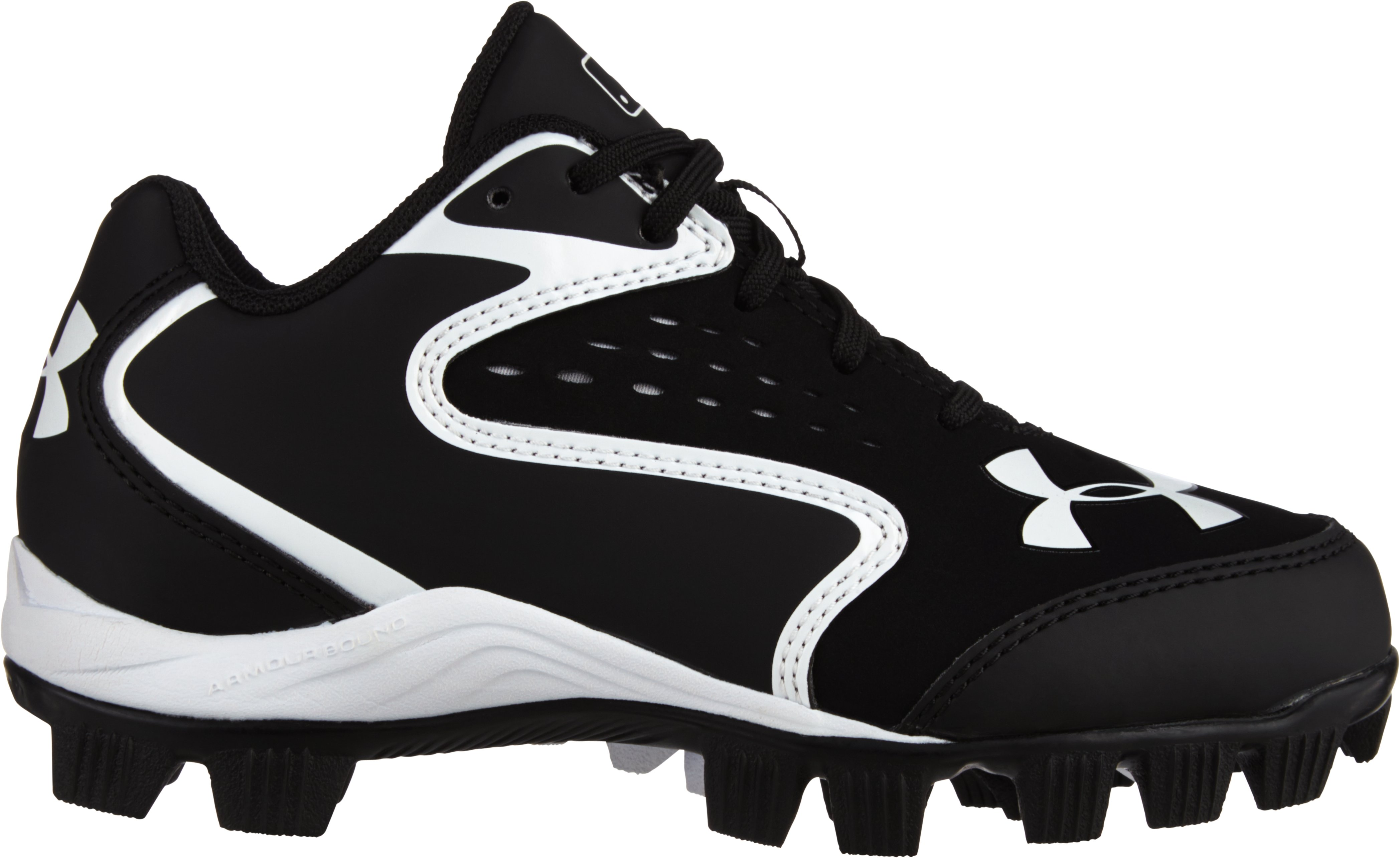 Kids' UA Clean Up Low RM Baseball Cleats, Black