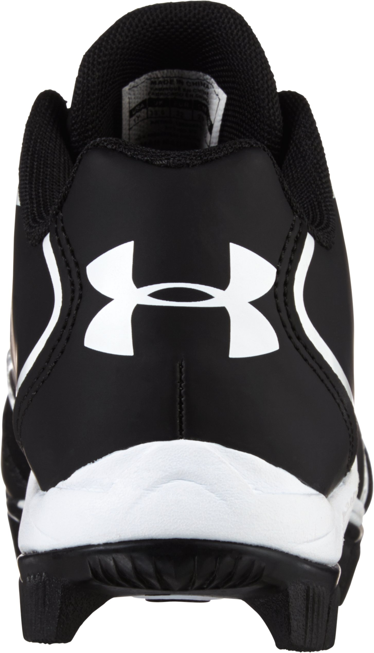 Kids' UA Clean Up Low RM Baseball Cleats, Black , undefined