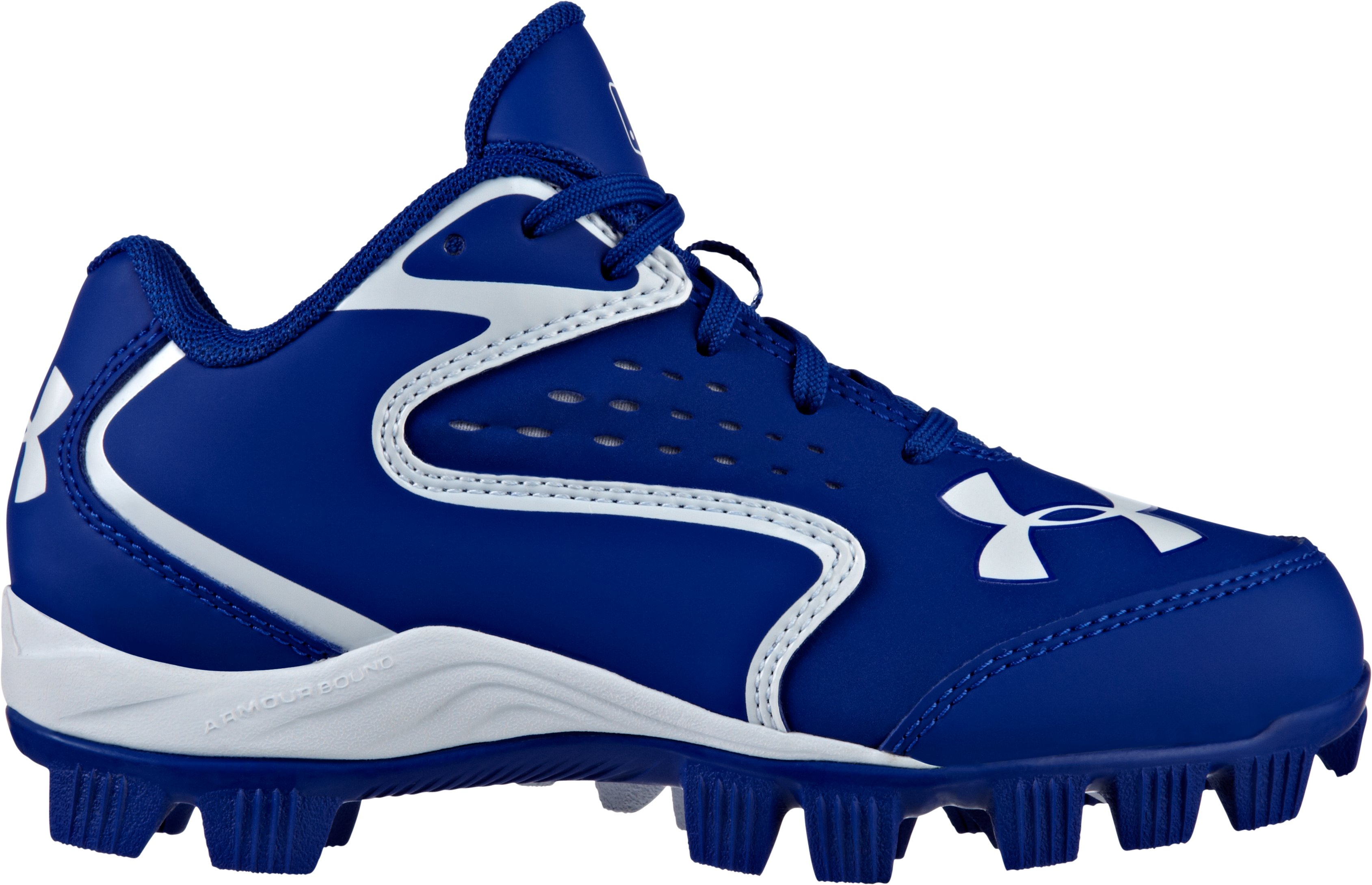 Kids' UA Clean Up Low RM Baseball Cleats, Royal, zoomed image