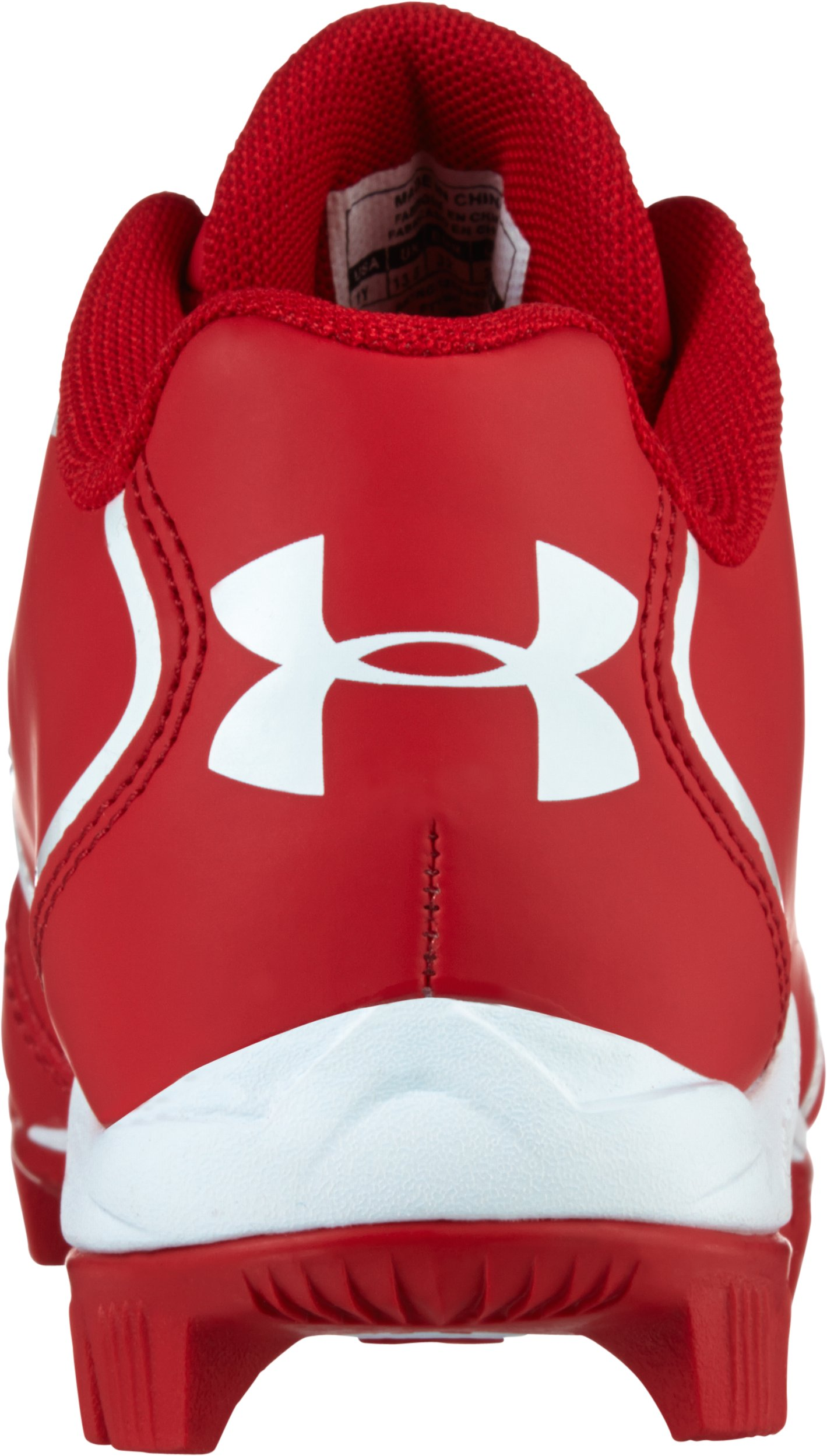 Kids' UA Clean Up Low RM Baseball Cleats, Red