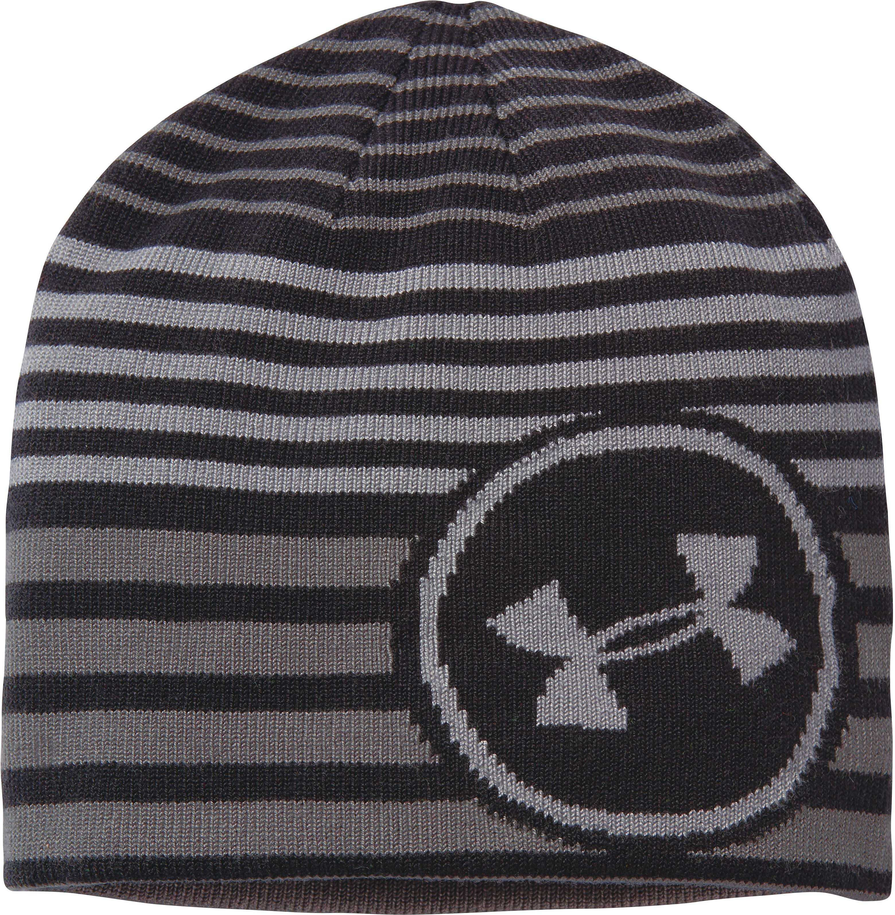 Boys' UA Reversible Beanie, Black , zoomed image