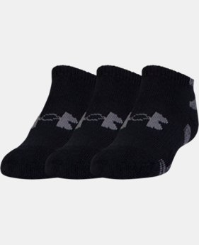 Best Seller Men's UA HeatGear® No Show Socks – 3-Pack  2 Colors $14.99