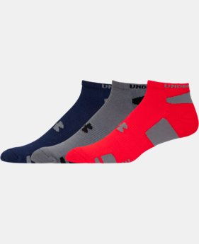 3-Pack Men's UA HeatGear® No-Show Socks 3-Pack  1 Color $14.99