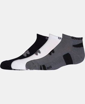 Best Seller Kids' UA HeatGear® No Show Socks 3-Pack   $13.99