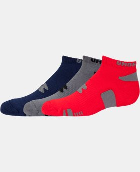 Kids' UA HeatGear® No Show Socks 3-Pack   $13.99