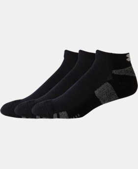 3-Pack Men's UA HeatGear® Low-Cut Socks 3-Pack - 2 for $25  2 Colors $14.99