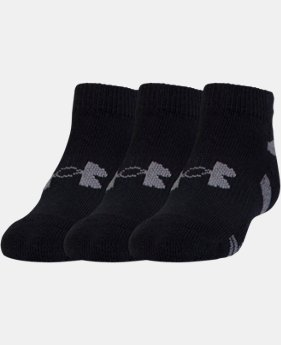 Boys' UA HeatGear® Lo Cut Socks – 3-Pack  1 Color $13.99