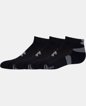 3-Pack Boys' UA HeatGear® Lo Cut Socks 3-Pack LIMITED TIME: FREE U.S. SHIPPING  $13.99