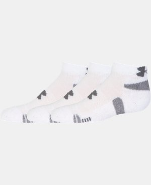3-Pack Boys' UA HeatGear® Low Cut Socks 3-Pack   $13.99