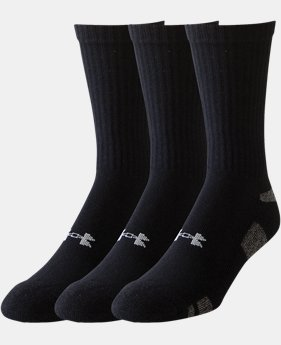 3-Pack Men's UA HeatGear® Crew Socks – 3-Pack  3 Colors $12.99
