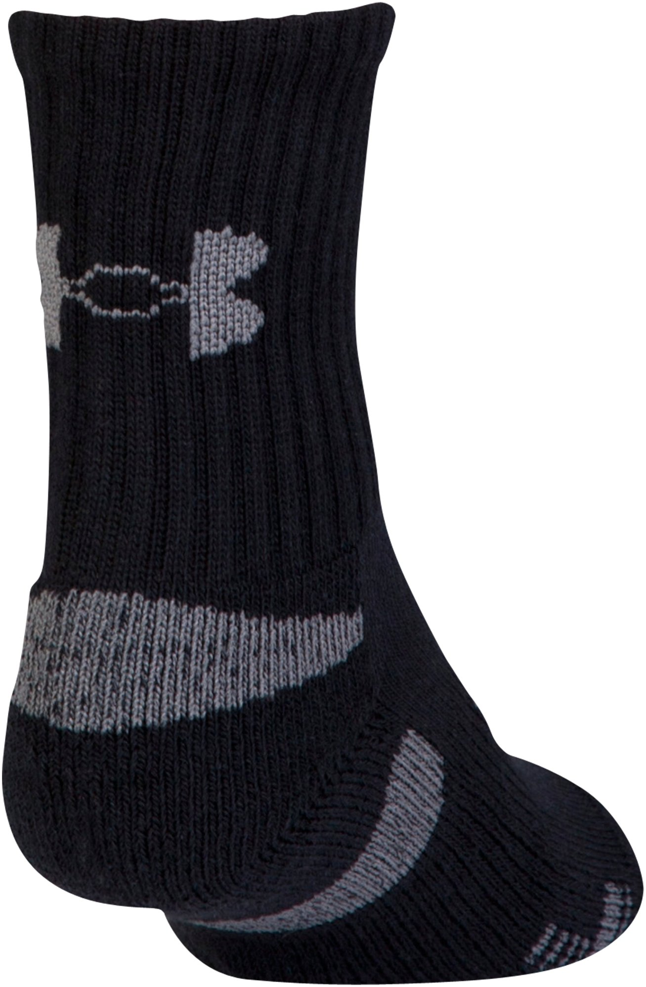Men's UA HeatGear® Crew Socks 3-Pack, Black