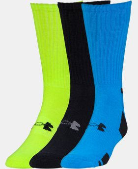 3-Pack Men's UA HeatGear® Crew Socks 3-Pack  2 Colors $12.99 to $16.99