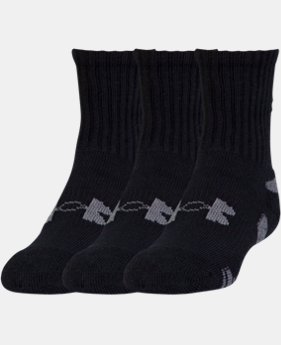 Boys' UA HeatGear® Crew Socks