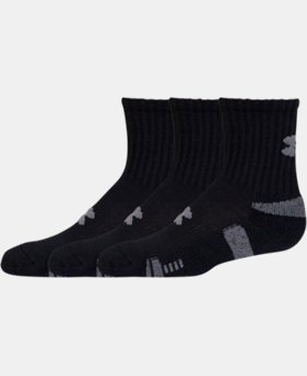 Best Seller Boys' UA HeatGear® Crew Socks 3-Pack   $15.99