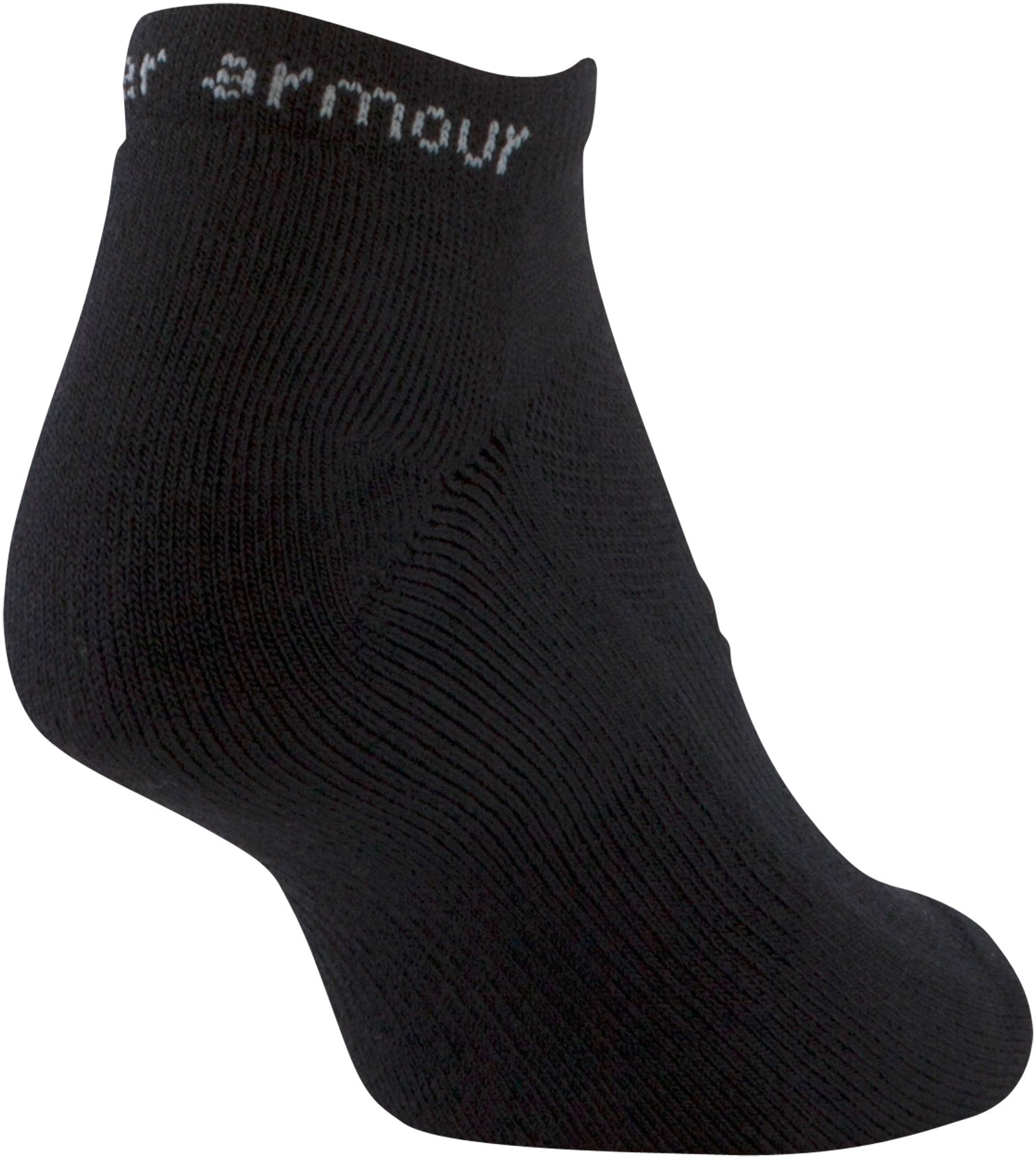 Women's UA HeatGear® Cushion No Show Socks 3 Pack, Black ,