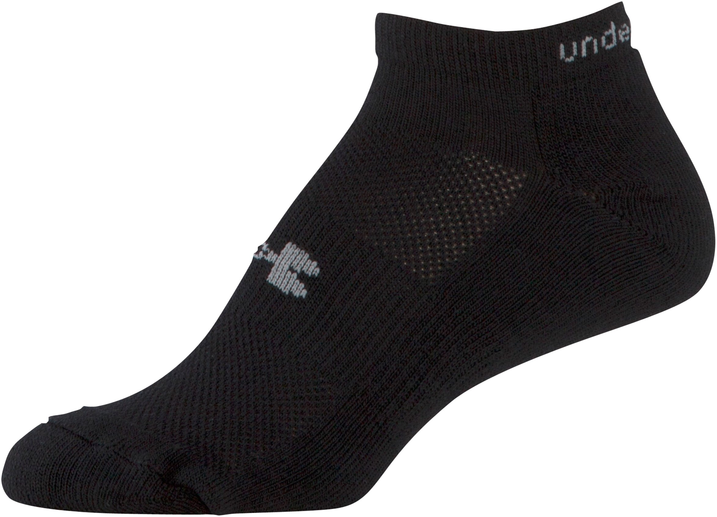Women's UA HeatGear® Cushion No Show Socks 3 Pack, Black