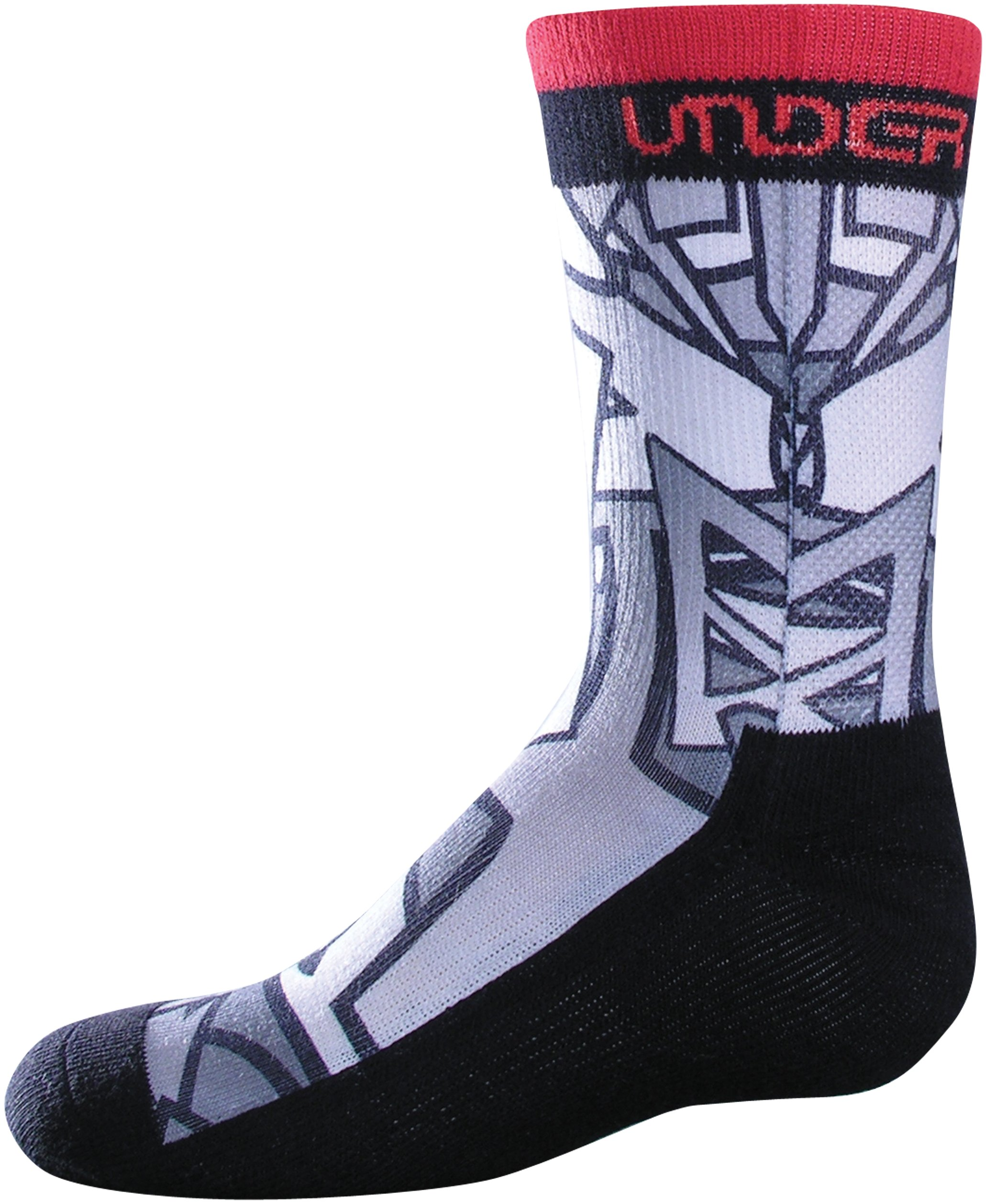 Boys' UA Pixaprint Sublimated Crew Socks, Black