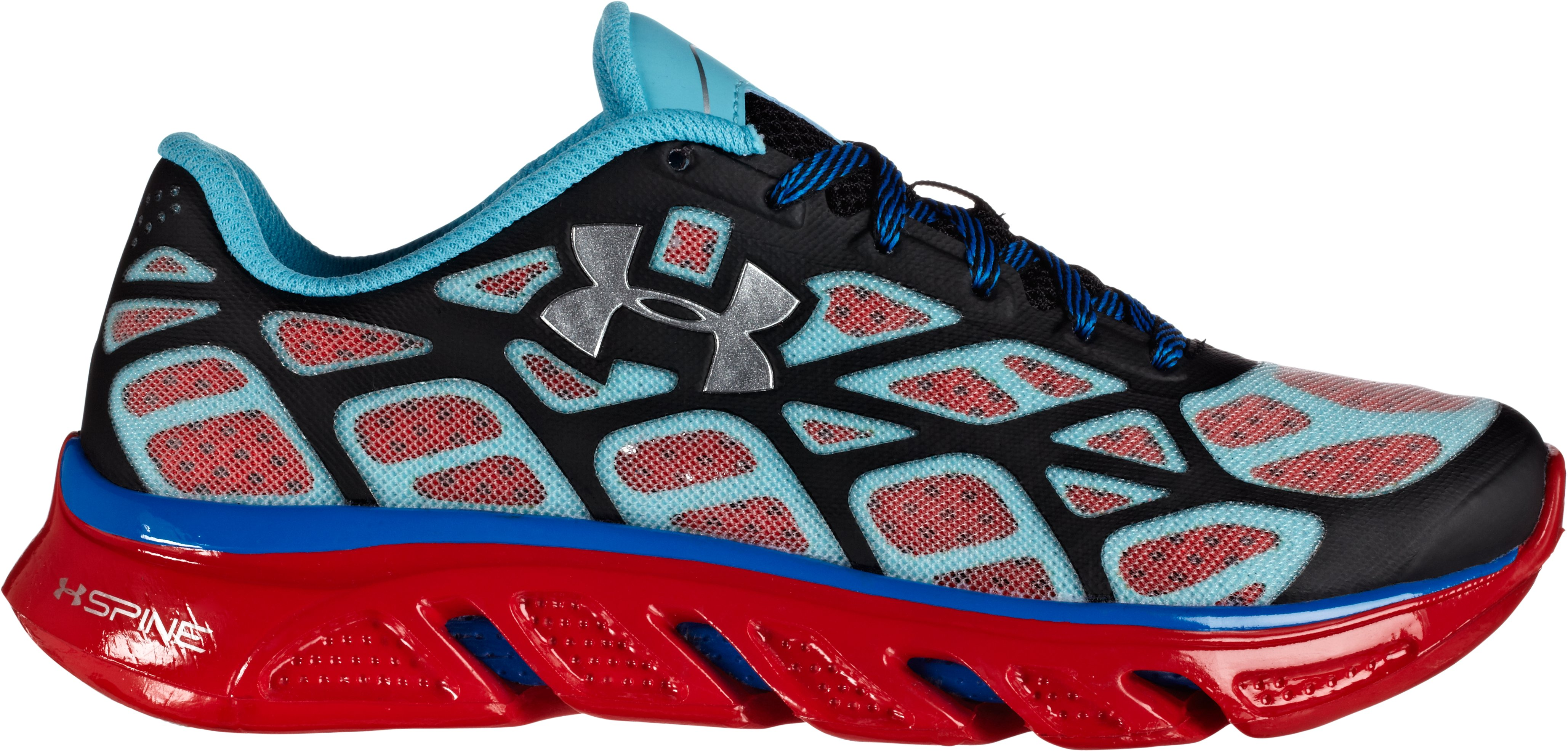Boys' UA Spine™ Vice Grade School Running Shoes – UA NEXT Limited Edition, Black , zoomed image
