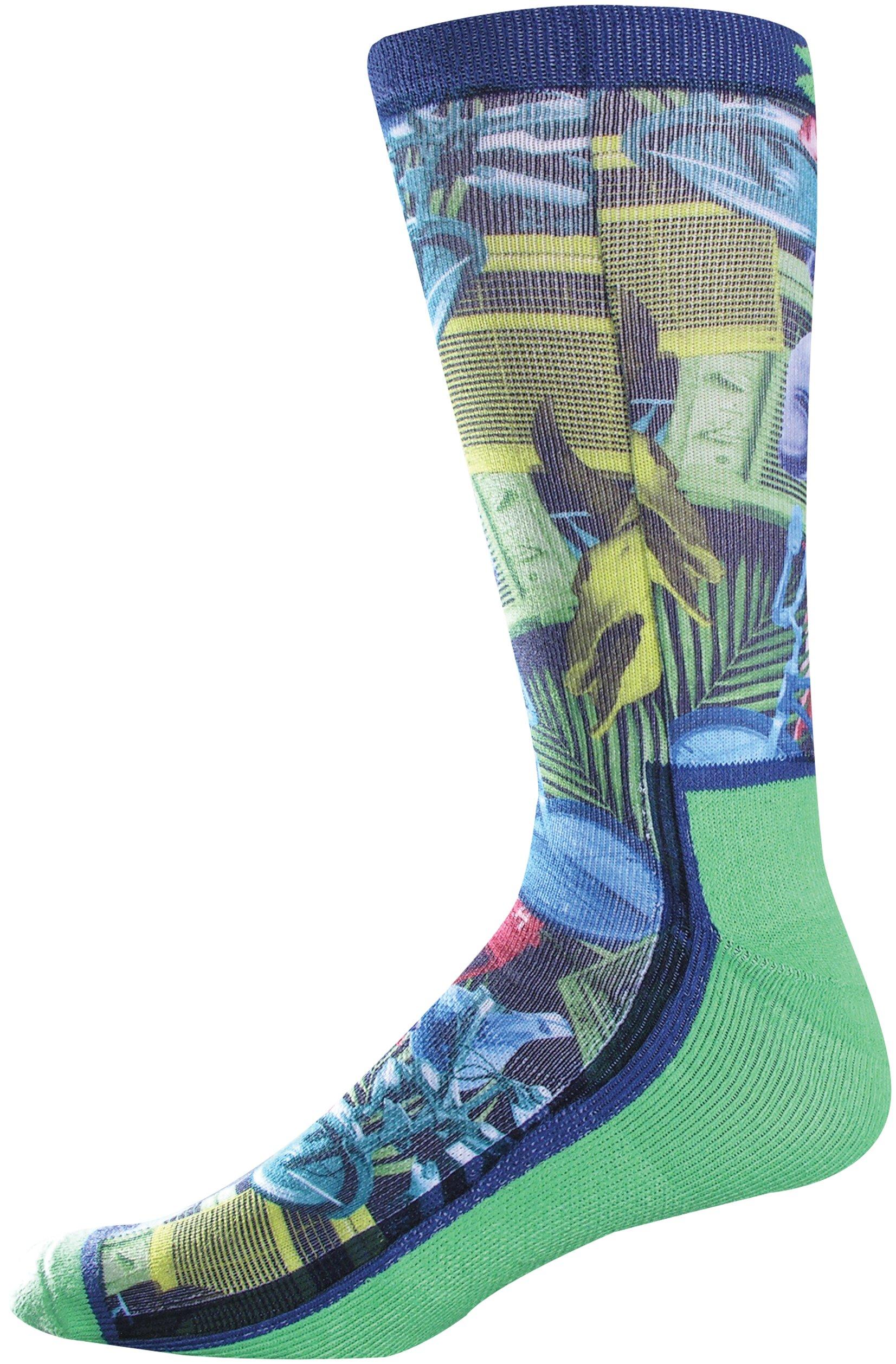 Men's UA Inspired Crew Socks, Lizard, zoomed image