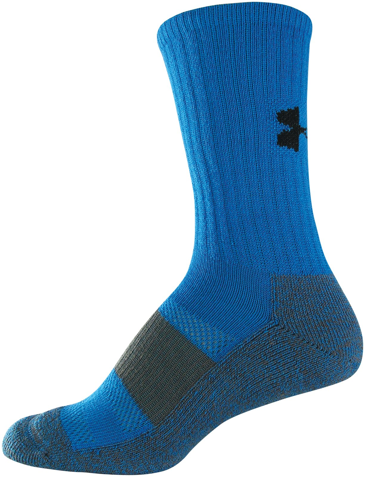 Women's UA Performance Crew Socks, ELECTRIC BLUE, zoomed image
